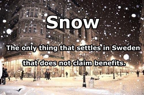Sníh ve Švédsku