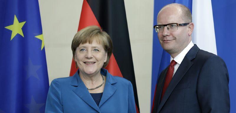 Merkelová a Sobotka